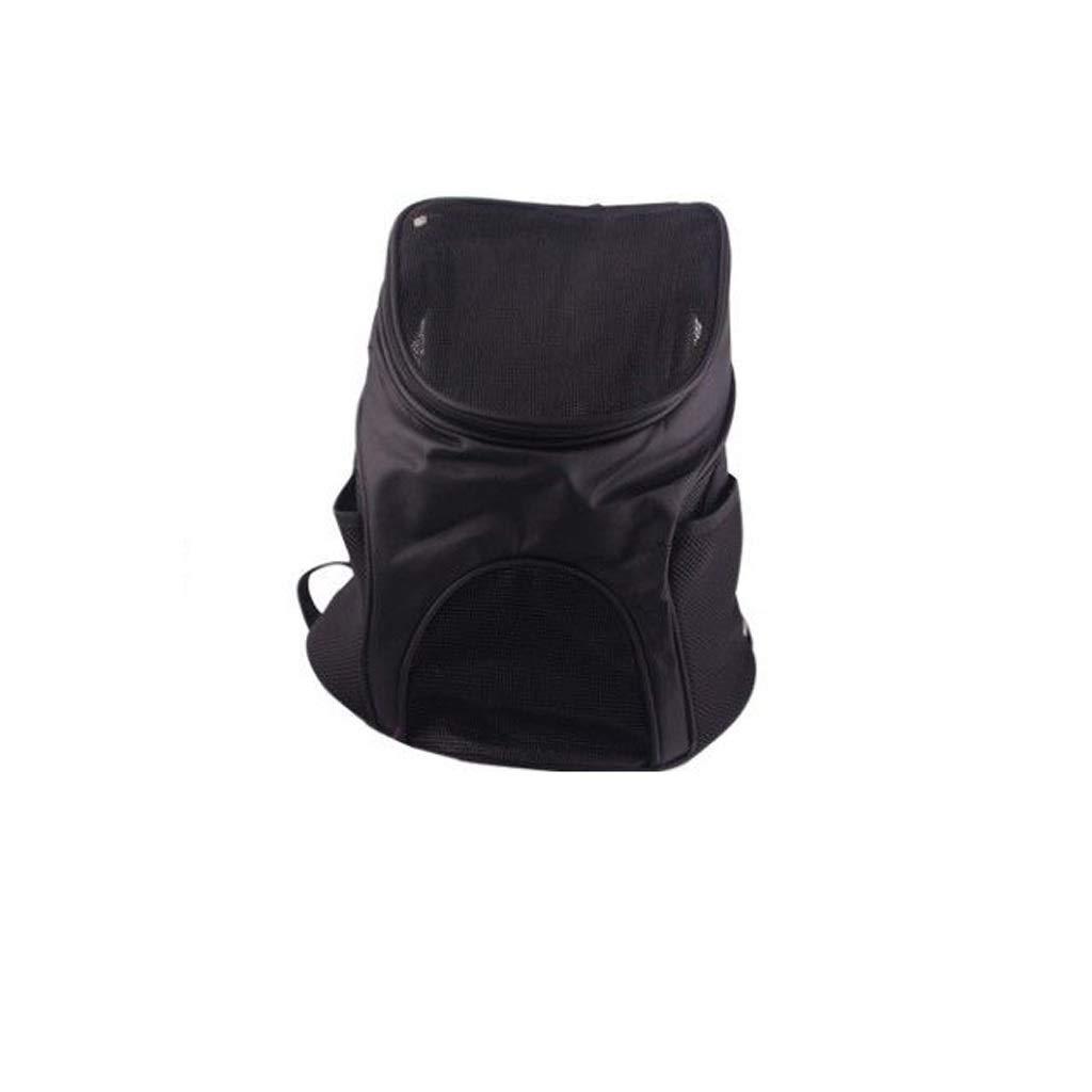 Black LargeWM Home Pet Out Bag Cat Cage Dog Cage Portable Out Pet Bag Cat Bag Pet Supplies Double Shoulder Pet Backpack (color   Black, Size   L)