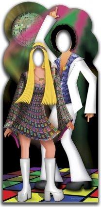 Disco Dancers Couple Stand-in Cardboard Cutout