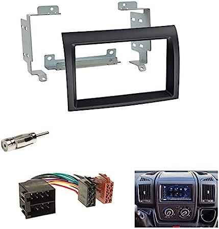 Autoradio Doppel Din 2 Din Radioblende Blende Schwarz Iso Radioanschlusskabel Radio Adapter Für Citroen Jumper
