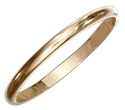 (14k Gold Filled Two Plain Wedding Bands Double Fitted Sized Toe Rings)