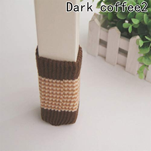4 Pcs/Set Knitted Dining Table Chair Leg Socks Stool Mat Protective Case Chair Booties Stool Sleeve DCE2 Other