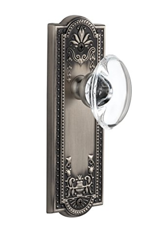 Grandeur Parthenon Plate with Provence Crystal Knob, Single Dummy, Antique Pewter ()