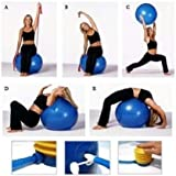 Nevil Anti-Burst Gym Ball with Foot Pump, Exercise Ball 75 cm (Multi Color)