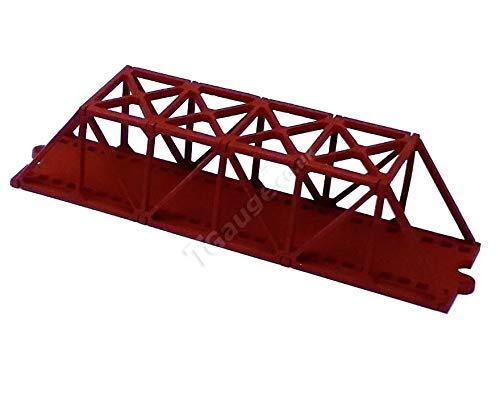 (T Gauge 1:450 Scale Truss Bridge Short in Red TB-003)