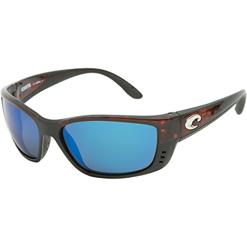 Mirror Wave 580 Glass (Costa Del Mar Sunglasses - Fisch- Glass / Frame: Tortoise Lens: Polarized Blue Mirror Wave 580 Glass-FS10BMG580)