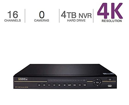 (Q-See 4K (8MP) NVR IP Ultra-HD 16-Channel with 4TB HDD with H.265 (QC826-4))