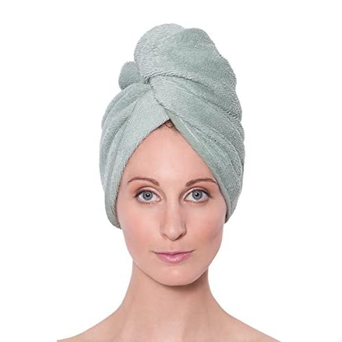 Texere Women's Bamboo Viscose Hair Towel (Tya, Lily Green, U) Mother's Day
