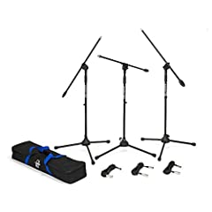 A handy value pack consisting of three BL3 boom stands, three 18-foot cables and a nylon carry bag.
