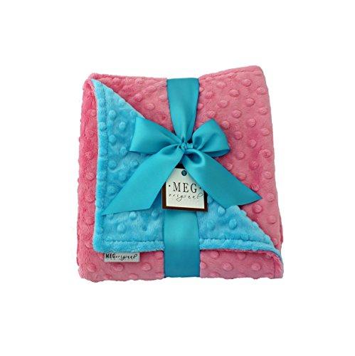 - MEG Original Minky Dot Baby Girl Blanket, Paris Pink & Turquoise