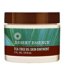Desert Essence Organic Tea Tree Oil Skin Ointment - 1 Fl Oz - Jojoba & Lavender Essential Oils - Vitamin E - Sweet Almond Extract - Moisturizer For Dry Skin, Skin Irritations, Cuticles