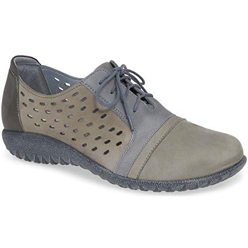 NAOT Footwear Women's Lace-up Lalo Shoe Soft Gray Nubuck/Vintage Slate Lthr/Tin Gray Lthr - 39 M EU / 8-8.5 B (M) US