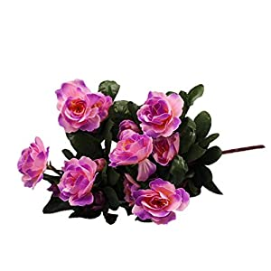 MARJON FlowersArtificial Flower, Anglewolf Artificial Bouquet Simulation of Azalea Safflower Home Wedding Fake Flower Decoration (Purple) [Energy Class A+++] 34