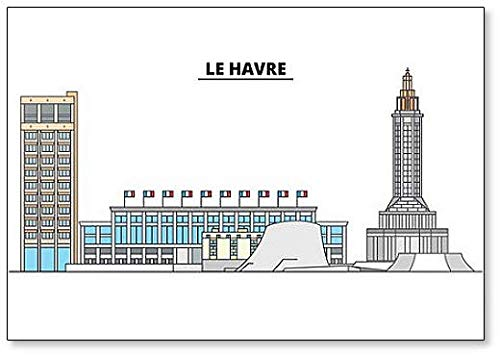 Le Havre, Skyline Illustration Classic Fridge Magnet