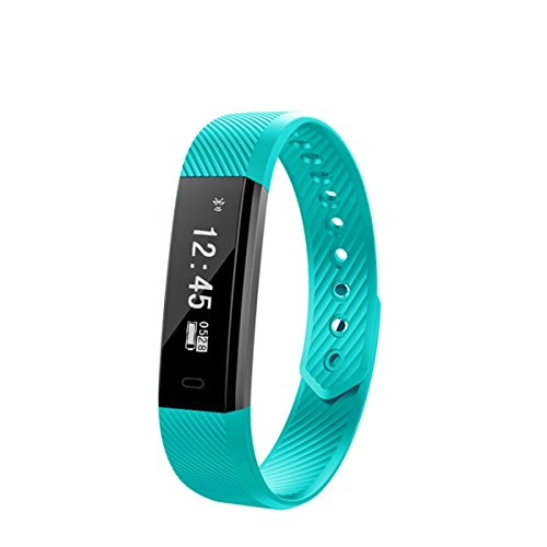 ircoo LED Display Touchpad Smart Band Watchband Smartband Smartwatch Heart Rate Blood Oxygen Pressure Monitor Pedometer Fitness Activity Tracker WristBand 4.0 Bluetooth Wireless for Android & ios