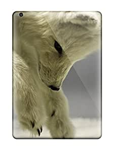Rugged Skin Case Cover For Ipad Air- Eco-friendly Packaging(arctic Foxes )