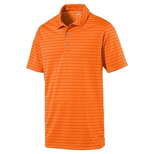 Puma Golf Men's 2019 Rotation Stripe Polo, Vibrant Orange, Triple x Large