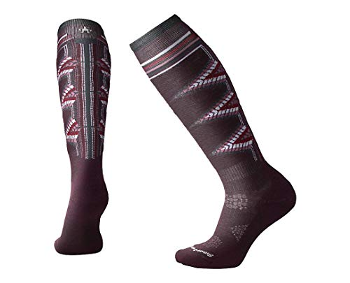 (Smartwool Women's PhD¿ Ski Light Pattern Bordeaux Medium)