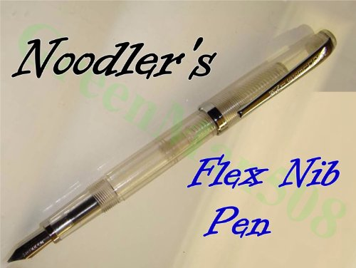 Noodlers FLEX NIB Fountain Pen, Piston Fill, Clear Demo (Noodlers Piston)