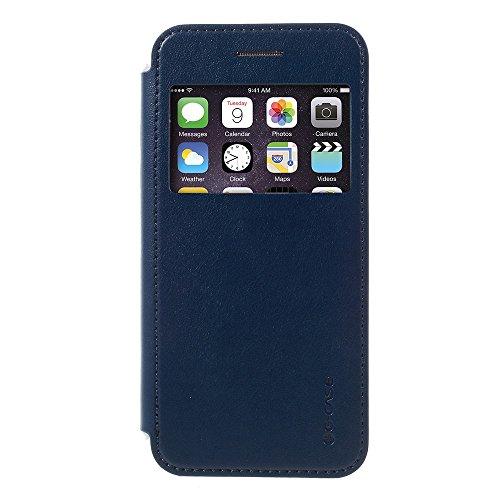 G-case - Tasche Hüllen Schutzhülle Fashion View Window Leather Cover - Tasche Hüllen Schutzhülle für Iphone 6S Plus/6 Plus/7 Plus - Dark Blue