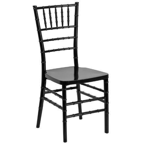 Flash Furniture HERCULES PREMIUM Series Black Resin Stacking Chiavari Chair ()