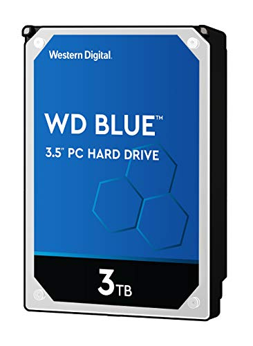 WD Blue 3TB Internal SATA Hard Drive for Desktops Black WD30EZRZSP