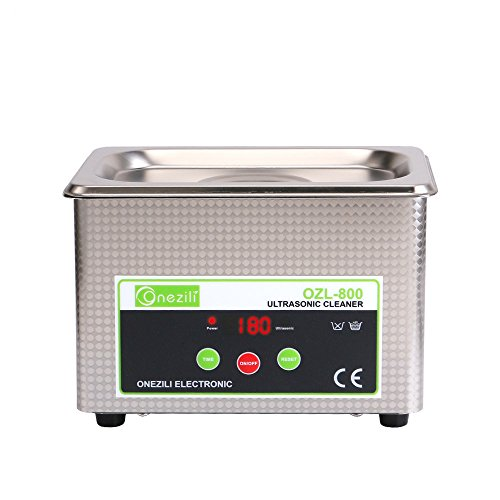 ONEZILI Professional Digital Ultrasonic Jewelry Cleaner Wave Smart Ultrasonic Cleaners 800ML Machine for Cleaning Jewelry,Dental,Eyeglasses,Rings,Necklaces,Lenses,Watches,Denture,Circuit Board ()