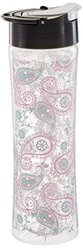 Fit & Fresh botella de agua reutilizable para mujer, hecho de plástico Tritan sin BPA con a prueba de fugas tapa abatible y...