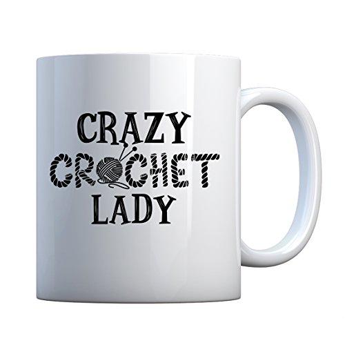 (Mug Crazy Crochet Lady Large Pearl White Gift Mug)