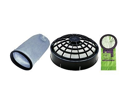 ProTeam 6 Quart Backpack Filter Bundle - 3 Items (10 Pack of Bags, Microcloth Bag, HEPA Dome Filter)