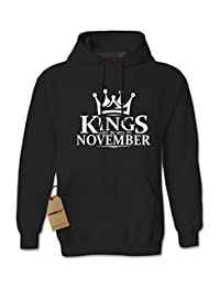Expression Tees Kings Are Born In November Unisex Adult Hoodie
