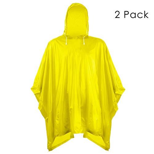 (Helonge Rain Poncho, Waterproof Raincoat with Hoods, Multipurpose Raincoat for Outdoor, Camping and Emergency)