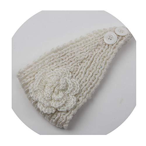 Autumn Woolen Headband Knitted Crochet Earmuff Warm Turban Hair Band Headwrap For Women Adult,3 ()