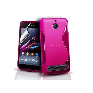 Carcasa/funda Sony Xperia E1 - TPU flexible ultra fina y ligera + 2 protector pantella (screen protector) incluido