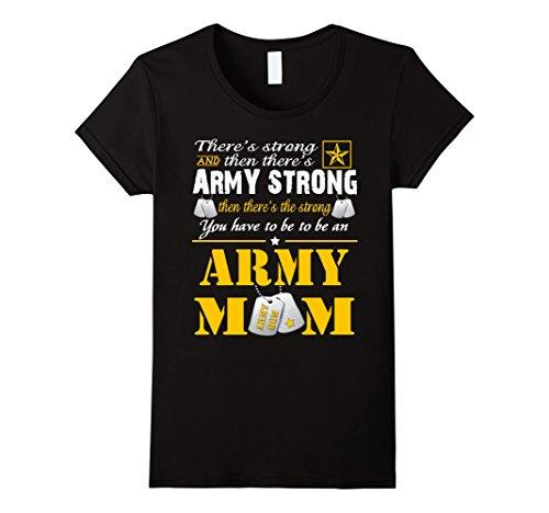 Army Mom Womens T-shirt (Womens Army moms T-shirts XL Black)
