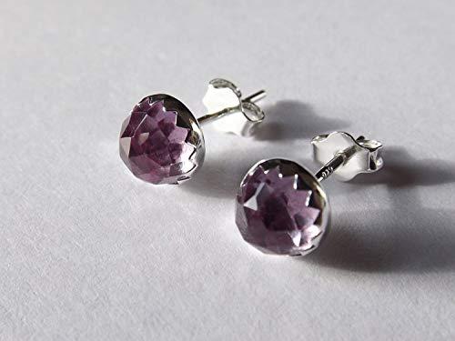 Alexandrite Earrings,Rose Cut Earrings,Simple Earrings,6mm Alexandrite Earrings,Post Earrings,Modern Jewelry,Minimalist,Modern Earrings ()