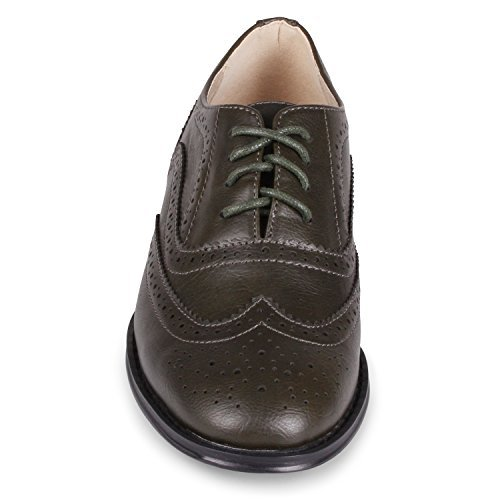 - Wanted Shoes Womens Babe Oxford, Olive, 5.5 M US