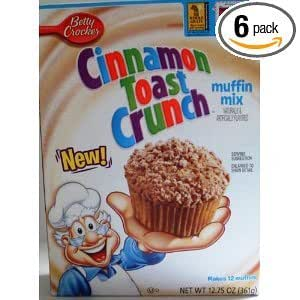 Betty Crocker Cinnamon Toast Crunch Muffin Mix (6 pack)