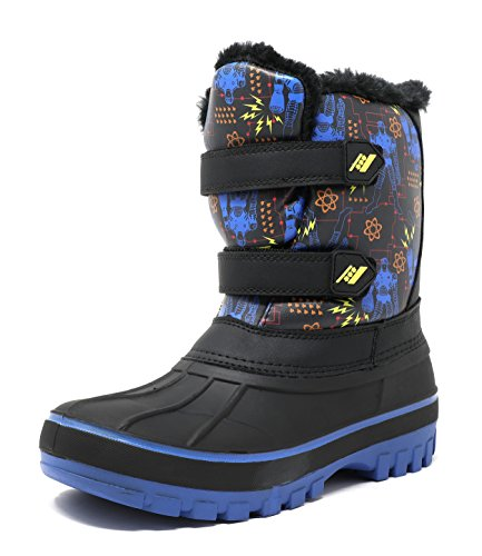 DREAM PAIRS Little Kid DUCKO Black Royal Ankle Winter Snow Boots Size 1 M US Little Kid