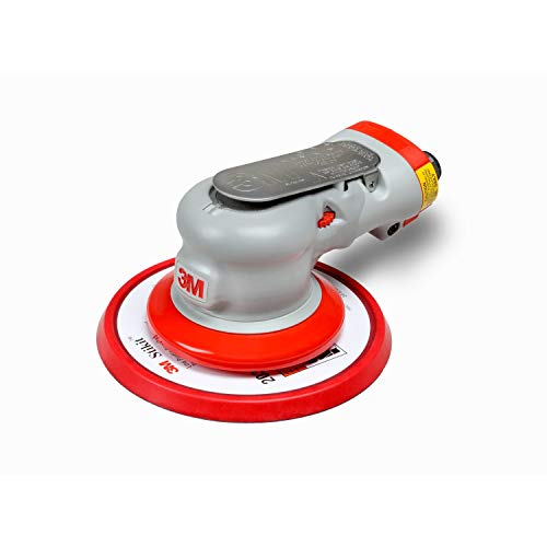 3M Elite Random Orbital Sander - Pneumatic Palm Sander - 6' x 3/16' Diam. Orbit - Stikit Disc Pad­ - Elite Series - For Wood, Composites, Metal