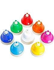 Klasse Bell Ring Rvs, 8 STKS Kleurrijke Service Bell voor Kids Party Kleine Game Tool