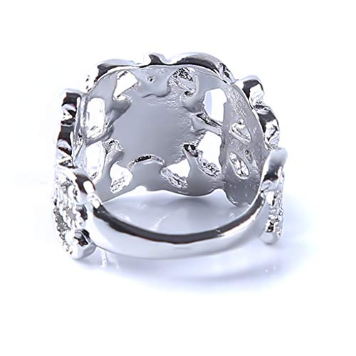 Meolin Women Girls Sparkling Opal Rhinestone Ring Beautifu Floral Rings for Bride Wedding Fine Jewelry Gifts,10# by Meolin (Image #4)