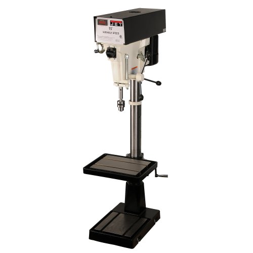 JET J-A5818 15-Inch 1-Horsepower 230/460-Volt Three Phase Variable Speed Floor Drill Press by Jet