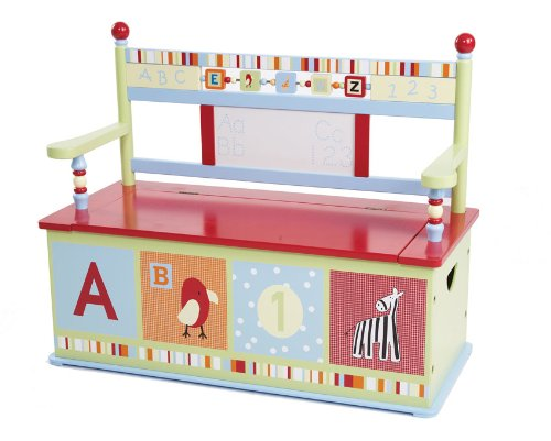Wildkin Alphabet Soup Toy Box Bench