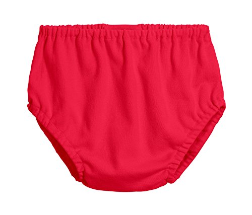 City Threads Baby Girls' and Baby Boys' Unisex Organic Diaper Covers Bloomers Soft Cotton, Red, 9-12m -
