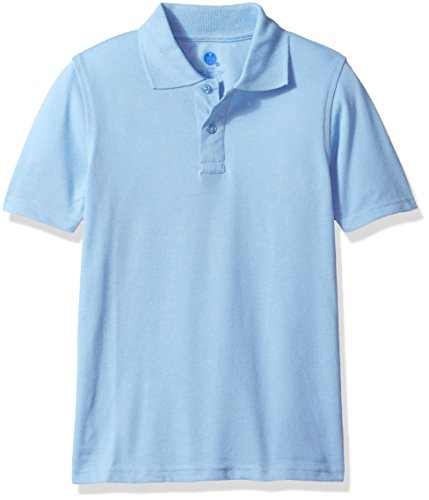 Sleeve Youth Pique Polo - Classroom Uniforms Kids' Little Unisex Youth Pique Polo, Light Blue, Extra Small