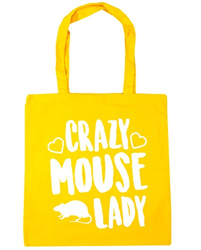 Bag 42cm mouse Tote Shopping HippoWarehouse Crazy Gym lady Beach litres 10 Yellow x38cm UZ6wqUH0W8