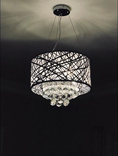 Modern Chandeliers with 3 Lights Pendant Light with Crystal Drops, Ceiling Light Fixture for Dining Room, Bedroom, Living Room (Modern Silver Ceiling Fixture)