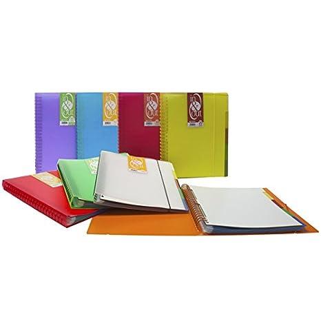 Grafoplás 39409010-Carpeta fundas extraibles, tamaño A4, color negro, 100 fundas: Amazon.es: Oficina y papelería