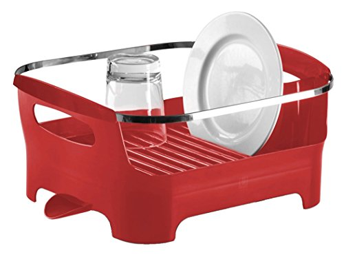 UPC 028295299121, Umbra Basin Dish Drying Rack, Red