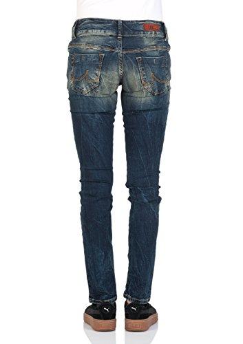 LTB Damen Jeans Molly Slim Fit - Blau - Cessily Wash, Größe:W 25 L 32, Farbe:Cessily Wash (4402)